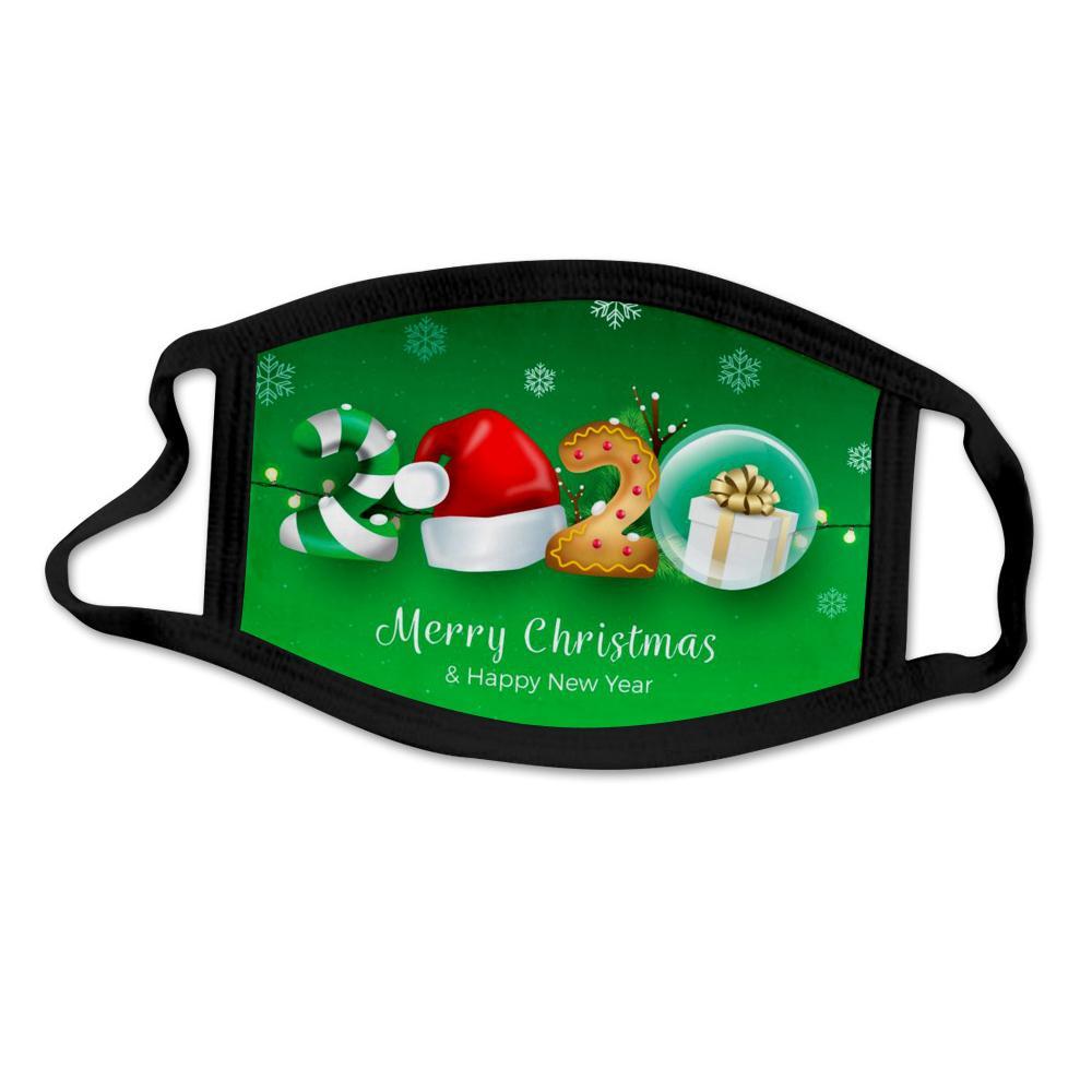 Party de Noël masque Masques 3D Cartoon Noël Masque lavable réutilisable Anti-poussière Masque bouche couverture pour adultes