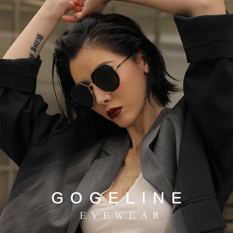 Women Polarized Metal Driving Feminino Gogeline UV400 Polygon Designer Sun Glasses Sunglasses Glasses Reaub