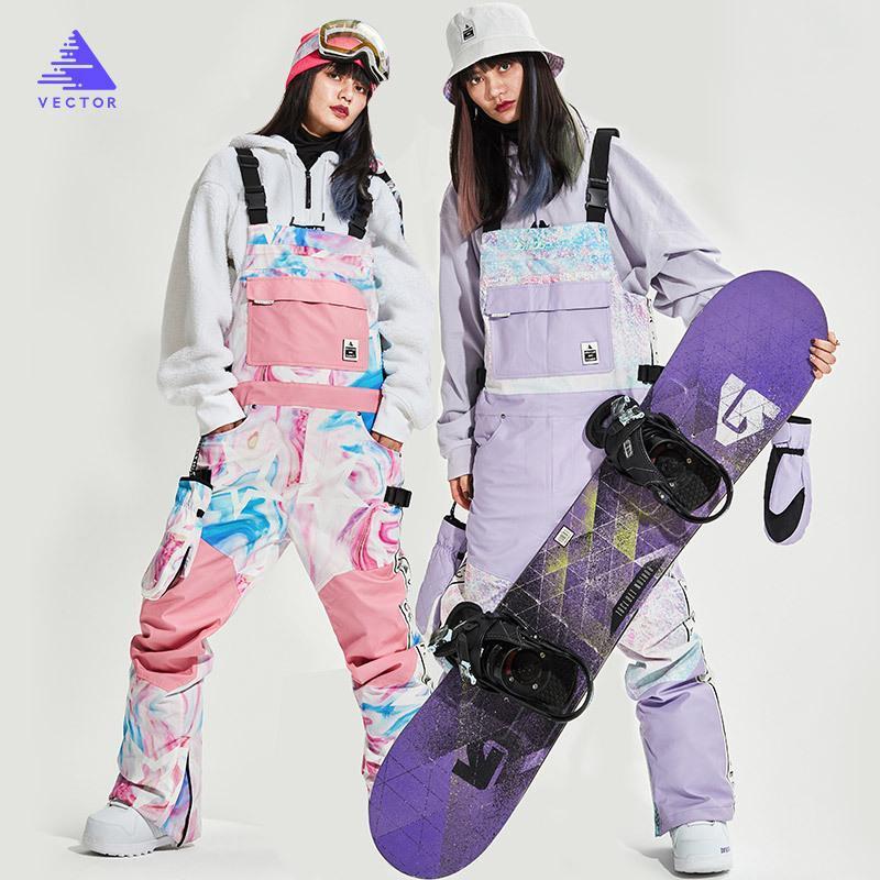 Frauen dicke warme wasserdichte Skijacken winddicht im Freien Sport Schneejacken und Hosen heiße Skiausrüstung Snowboardjacke