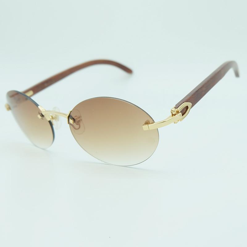 Mode Herren oval für klassische Männer Carter Beliebte Zubehör Holz Stilvolle Urlaub Designer Sun Sonnenbrille Glas Sonnenbrille Randlose Hipar