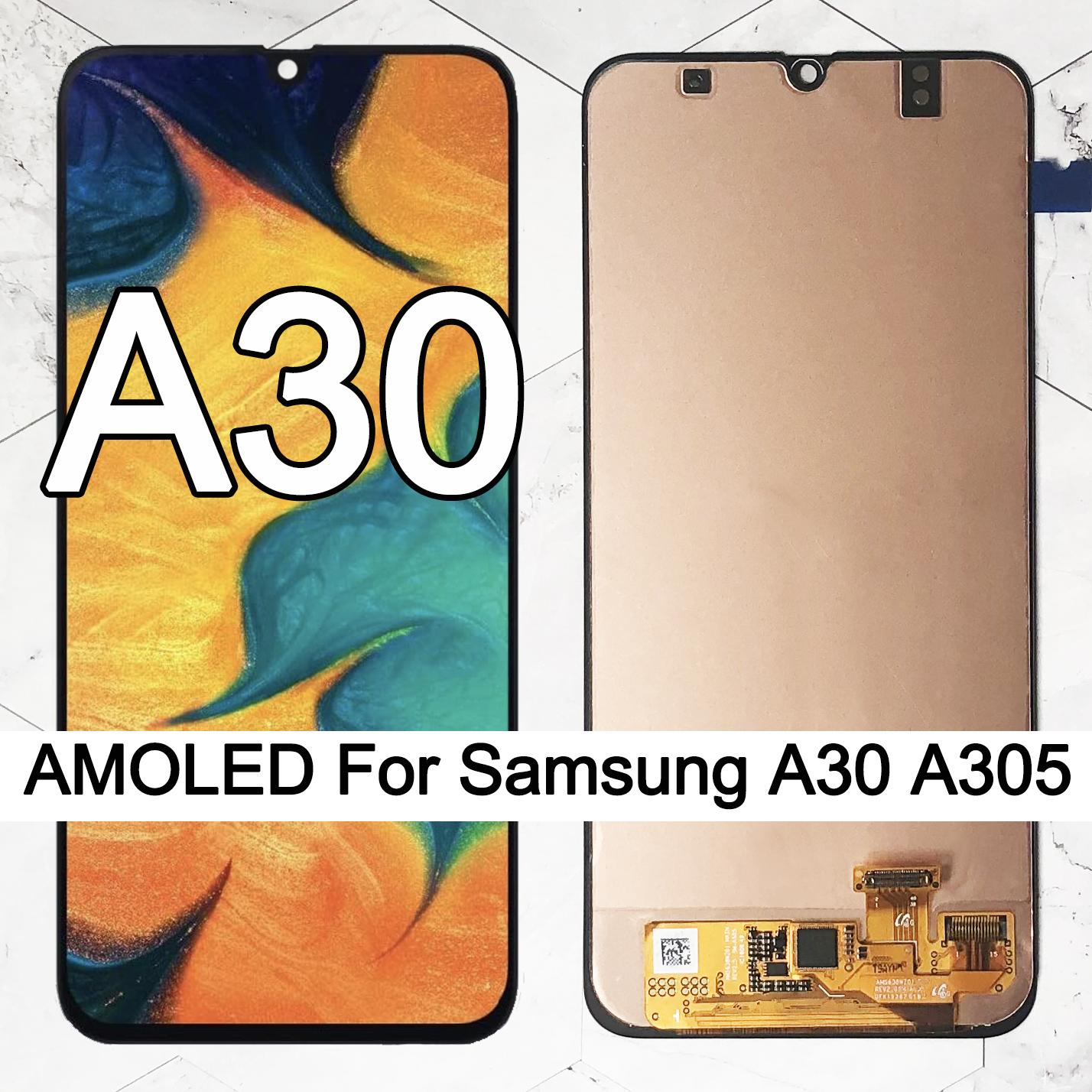 ORIGINAL 6.4'' SUPER AMOLED LCD Display for SAMSUNG GALAXY A30 A305/DS A305F A305FD A305A Touch Screen Digitizer Assembly