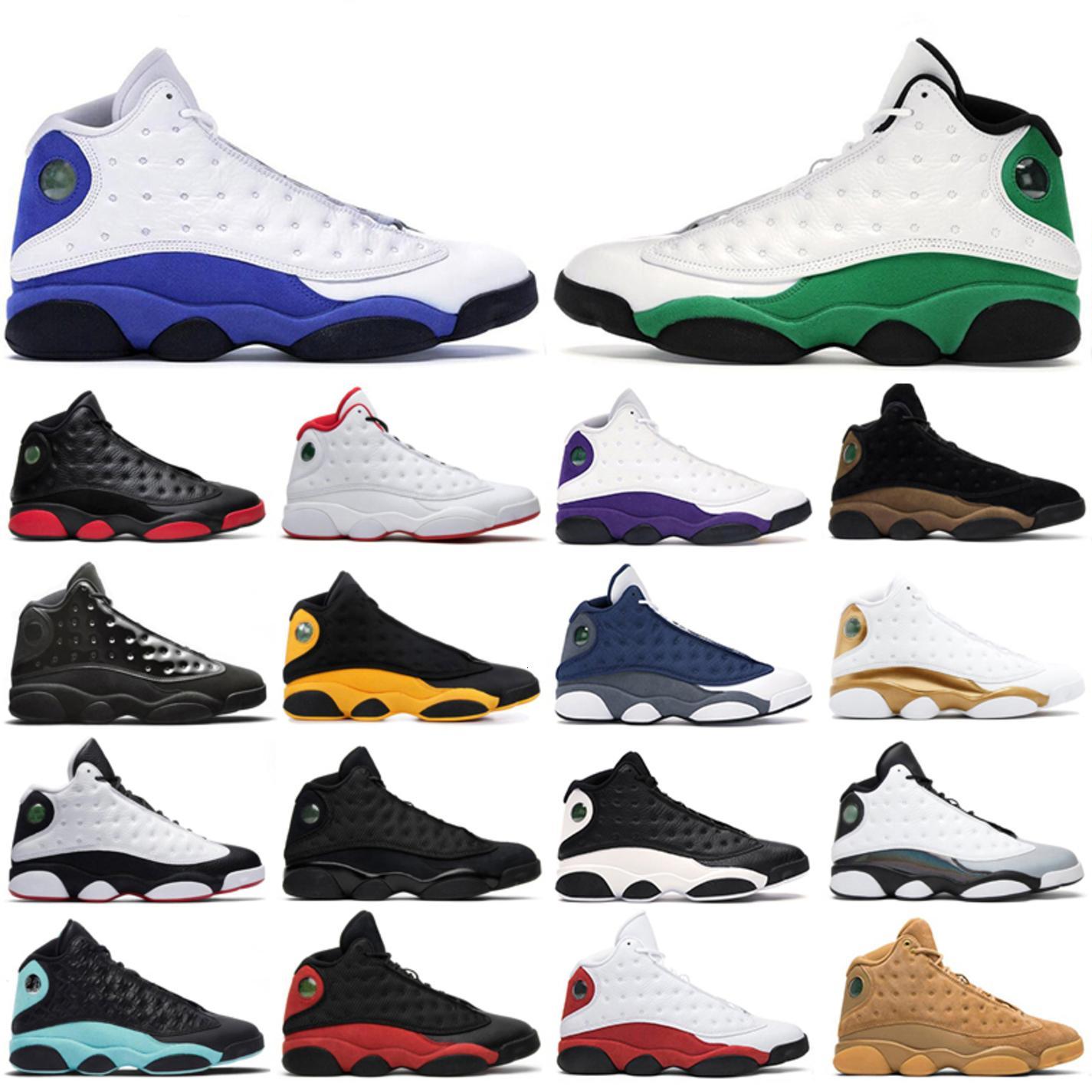 Новые мужские баскетбольные туфли 13s jumpman 13 Lucky Green Flint Hyper Royal Chicago Alture Court Court Court Purple пшеничная площадка Мужчины спортивные кроссовки
