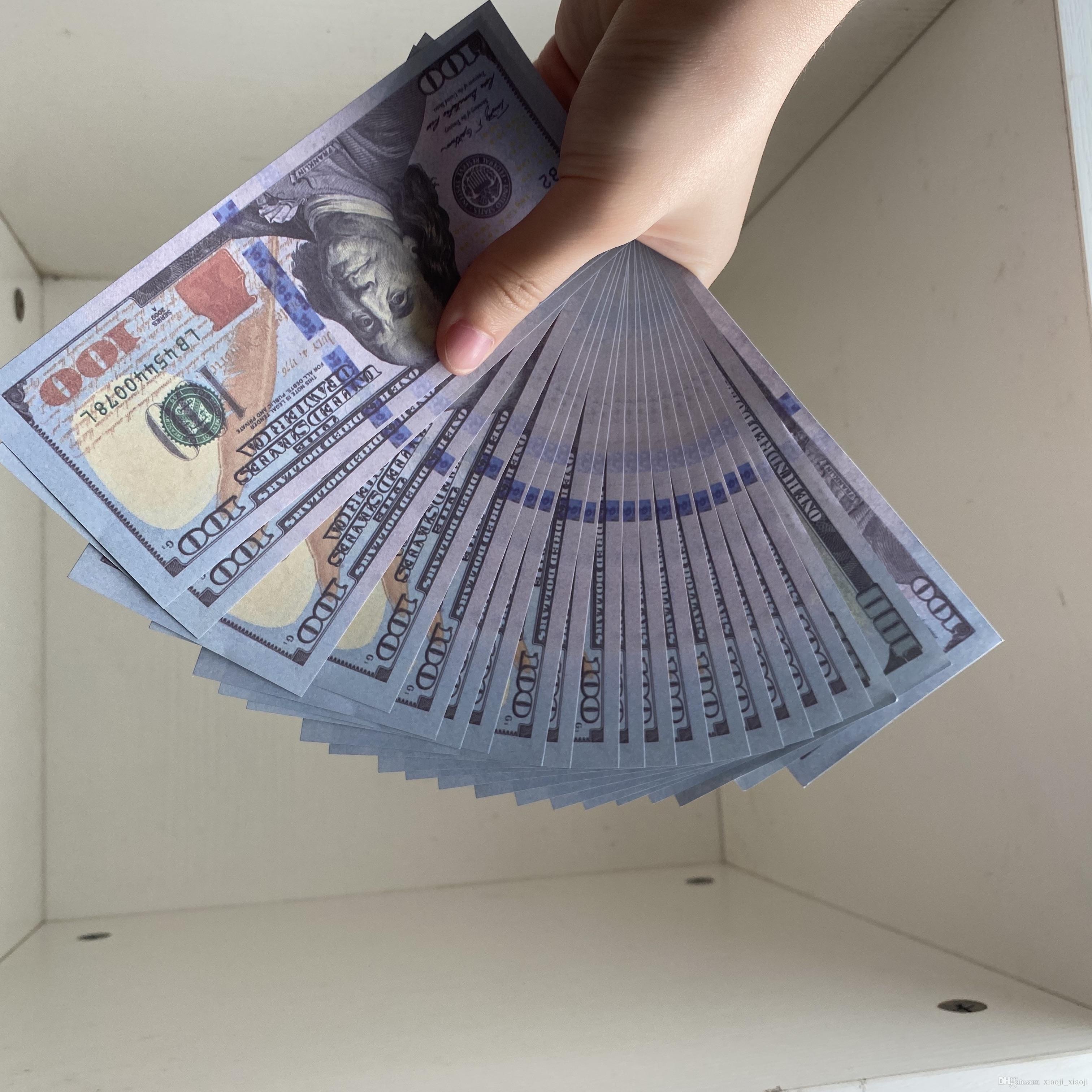 Party Best Children Filmprop Banknote Geld Banknote Geschenk 100 Spielzeug Neue Gefälschte Qualität Dollar 09 Währung FVGWM