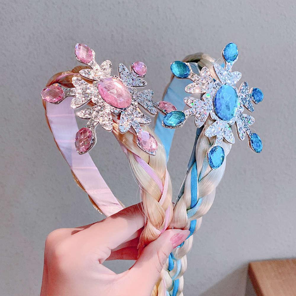 Mädchen Stirnband Prinzessin Cosplay Weben Zopf Stirnband Haar Kristall Dekoration Mädchen Perücke Mädchen Stirnband Kinder Haar Geflochten