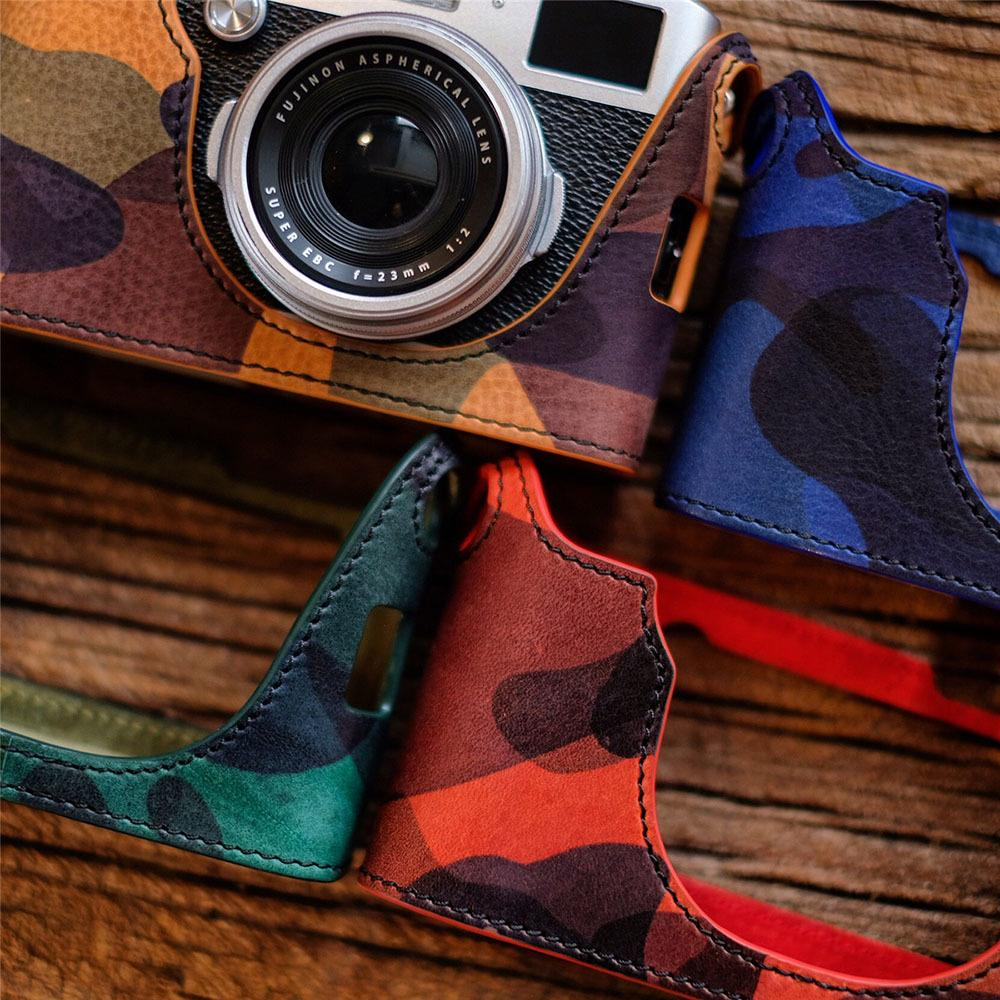 Cam-in LCP-001 protective Camouflage style camera leather case for Fujifilm X100L Q1222