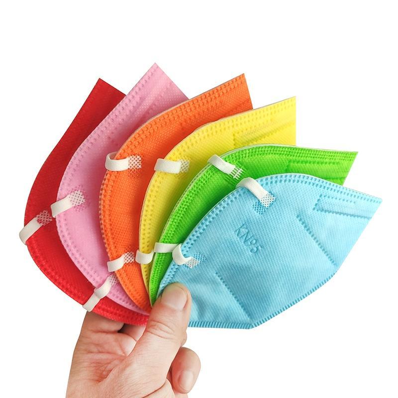 KN95 페이스 마스크 11 색 공장 공급 소매 패키지 성인 95 % 필터 5 레이어 디자이너 활성탄 빠른
