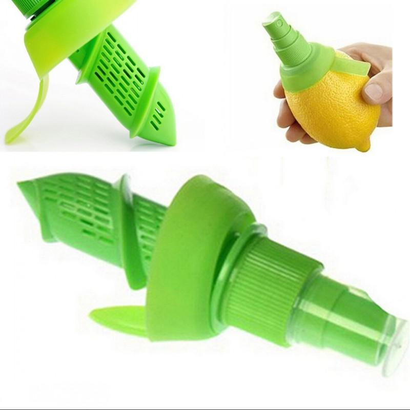 Cocina verde Gadget pulverizador frutos de limón Exprimidor de naranja limón Spritzer Accesorios Manual del atomizador portátil de cocción 1 5cx G2