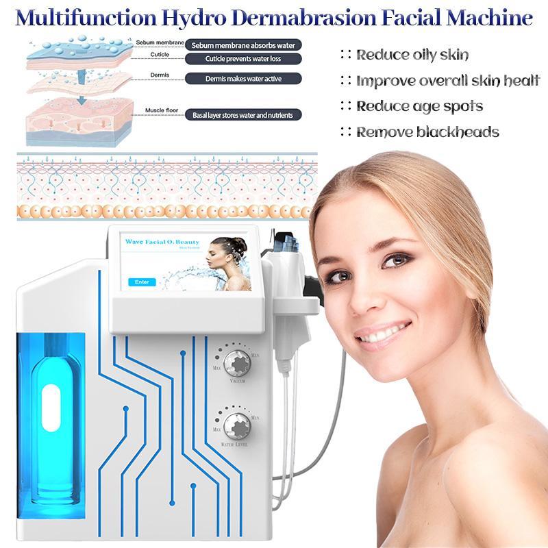 Sistema di cura della pelle spa per la pulizia della pelle profonda con la funzione di terapia PDT portatile 4 in 1 macchina fatica idraca