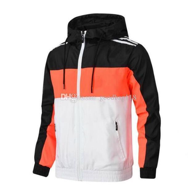 Лучшее качество мужчин дизайнерские куртки новых мужчин куртка пальто ветровка с капюшоном куртка молнию тонкой спортивной одежды с длинным рукавом толстовка мужская одежда