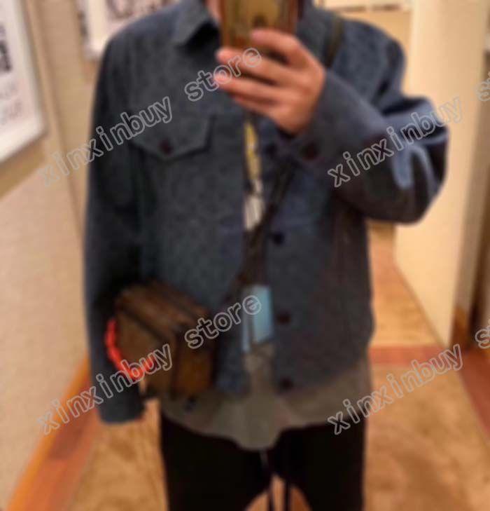 homme designers vêtements vestes de vêtements Paris broderey lettres poitrine denim manteau décontracté hommes hiver manteaux hommes veste bleu violet violet
