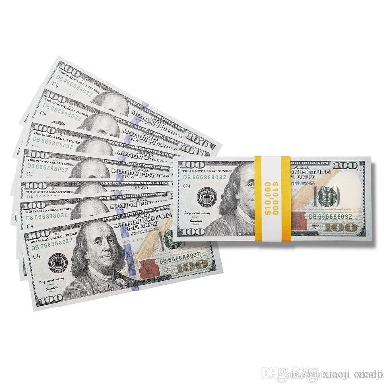 Money Film Banknote Währungsgeschenk-Dollar-Spielzeug Kinder-Party USA-Prop-dekorative Artikel # 001 100 Erwachsene-Spiel 100pcs / pack Fake mjxbq