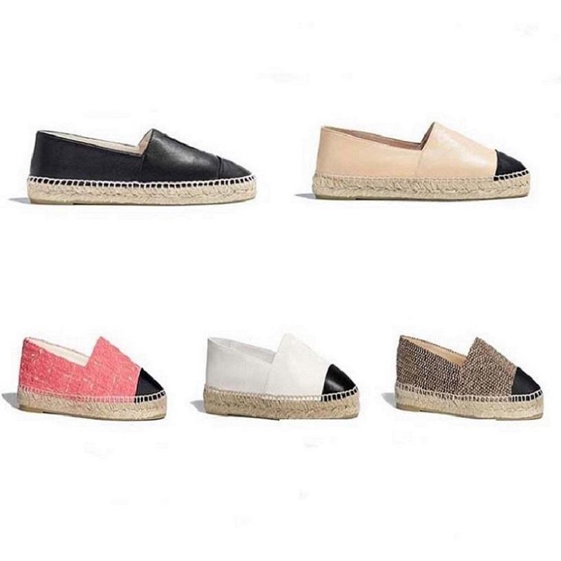 Classics Loafers Frauen Espadrilles flache Schuhe Canvas und echtem Lammfell Loafers zwei Ton Kappe Zehe Art und Weise der beiläufigen Schuhe