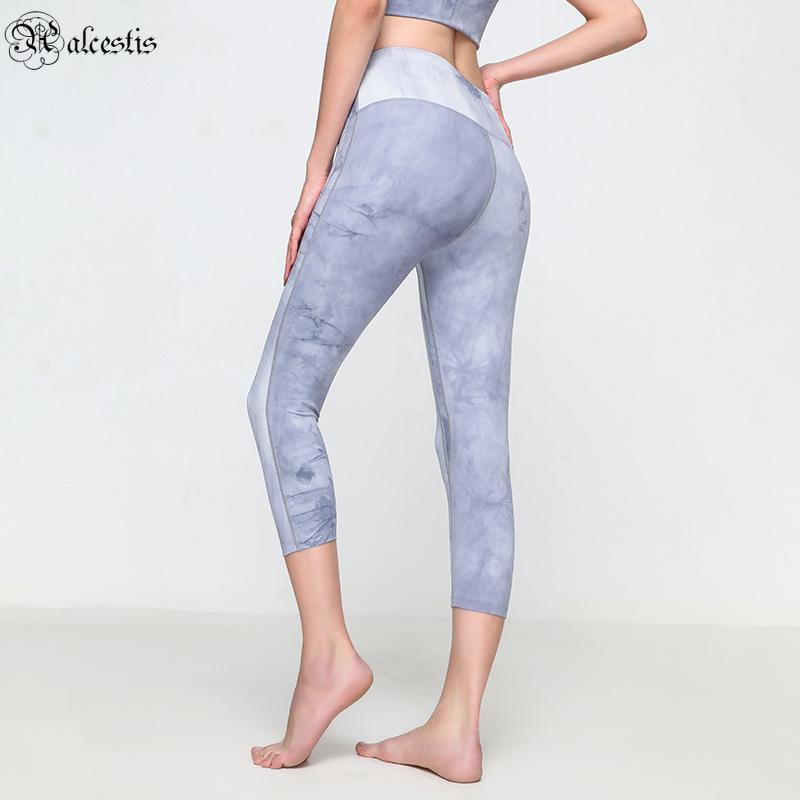 Calças de fitness Mulheres Leggings de Esportes Desgaste Desgaste Executando Calças de Yoga de Pêssego Rápido de Secagem