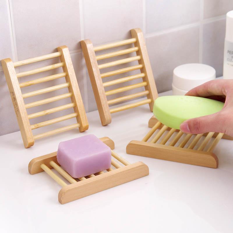 Plato de jabón de madera natural Accesorios de baño Organizador de almacenamiento para el hogar Plato de ducha de baño Durable Portífago Portátil Portátil Portífago 1pc