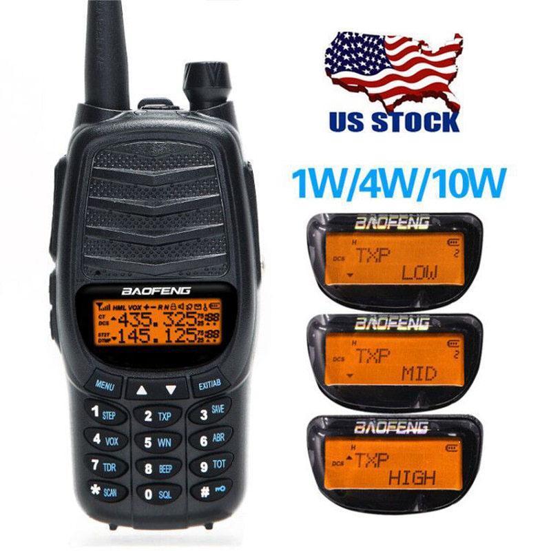 США со Baofeng UV-X9 Plus 10W Tri-мощность 10 Вт / 4 Вт / 1 Вт Мощный DU PVHF / UHF Ham Two Way Радио Walkie Talkie