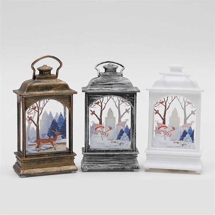 Lanternas da vela do Dia das Bruxas do vintage com as velas de flicking do led flicking para a decoração interna ou exterior das luzes de suspensão