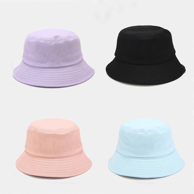 Unisex del verano del sombrero del cubo plegable al aire libre de las mujeres Protector solar algodón Pesca Caza hombres del casquillo de Bob Chapeau sombreros de Sun