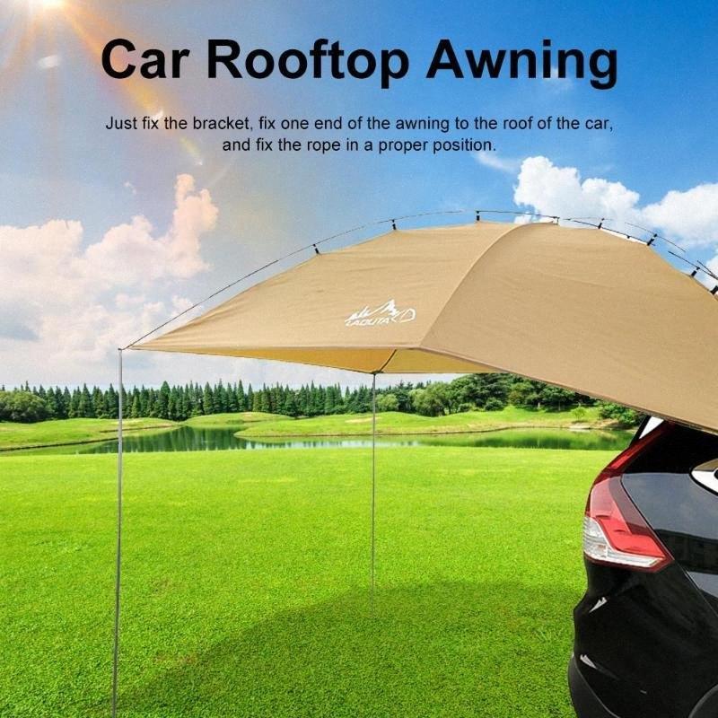 # Toldo Sun Shelter SUV Tent Auto Canopy Camper portátil Trailer Tent Rooftop Car toldo para a Praia MPV Hatchback Minivan Sedan U8iS