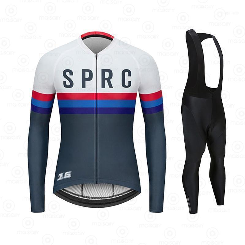Весна осень 2020 команда с длинным рукавом Велоспорт Джерси набор ROPA Ciclismo Дышащий гоночный велосипед Одежда MTB Bike 19D GEL PAD1
