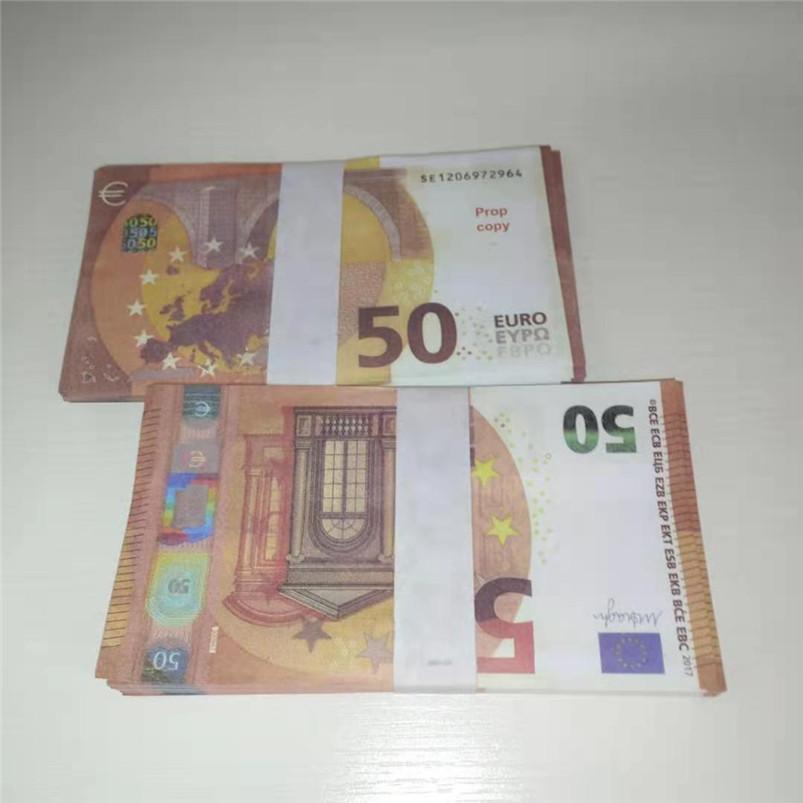 50 Euro Paper accessoires Simulation Euro accessoires Props Props Barre Atmosphère Money Fake Paper Money Jouets 0037