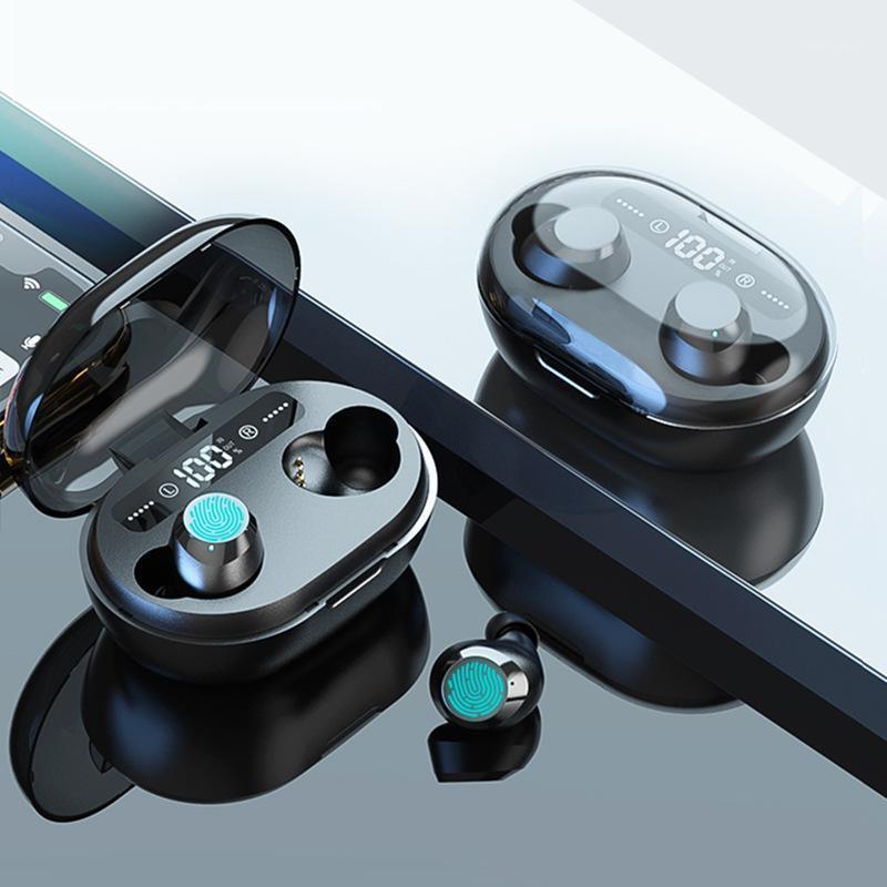 5.0 Bluetooth Kopfhörer 3D Stereo Wireless Kopfhörer mit Dual Mikrofon LED Digital Power Bank Rauschunterdrückung Headset1