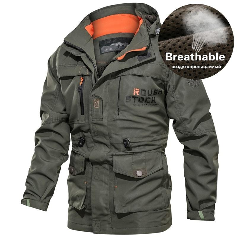 Mens Tactical Autumn Quick Dry Military Coat Male Multi Pockets Hooded Windbreaker Waterproof Bomber Jacket Plus Size 4XL