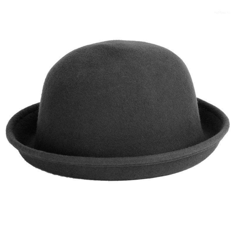 لاذع حافة القبعات امرأة فيدوراس خمر فيدورا تشافو feutre الشتاء شعرت sombreros دي فيلترو الصلبة cappello bombetta caps1