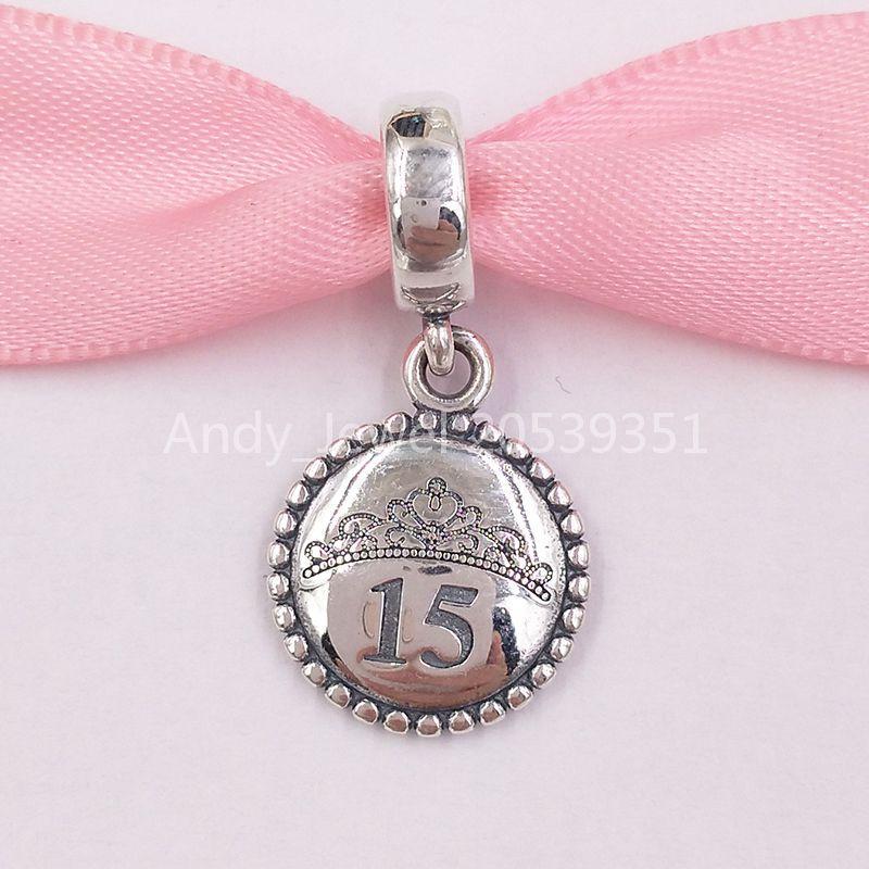 Authentic 925 sterling sterling perline charms si adatta alla collana di braccialetti di gioielli in stile Pandora europeo 388