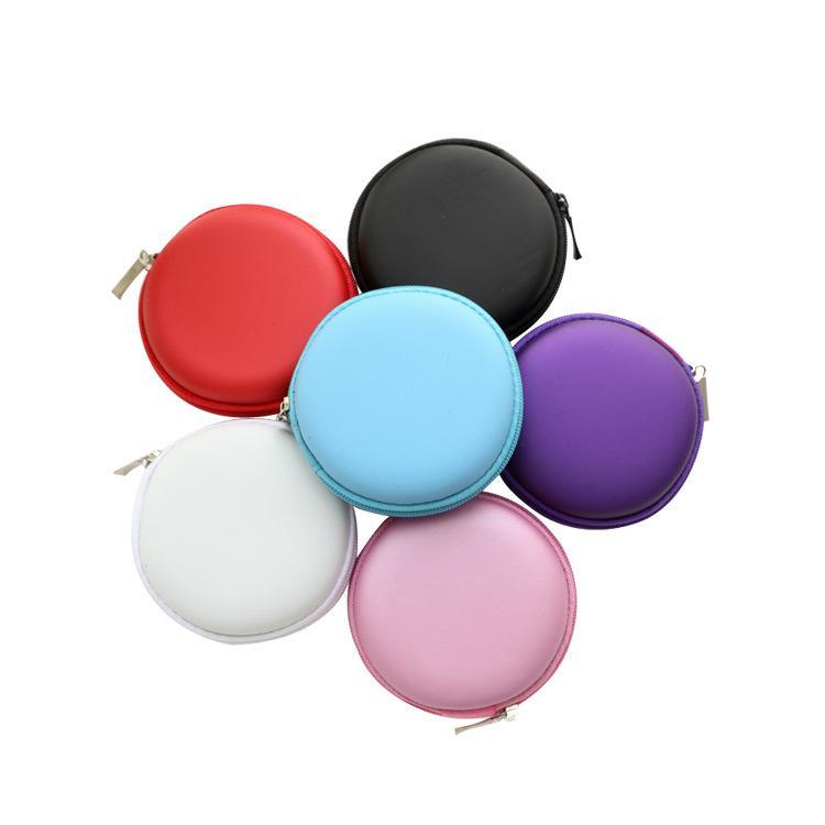 Aufbewahrungsboxen Zappeln Spinner Beutel EVA Datenleitungen USB-Headset-Taschen Runde tragbares Gehäuse für Hand Spinner Container Praktisch