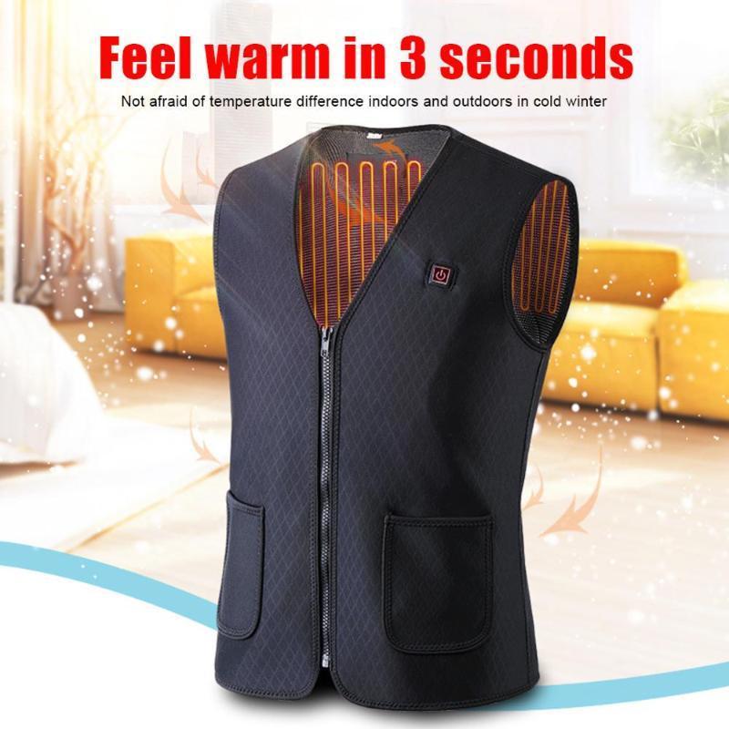 2020 Nouveau électrique chauffant Femmes Gilet Lavable Chauffage Gilet chaud thermique Vêtements Elektrich Gilet Vestes d'hiver Hommes