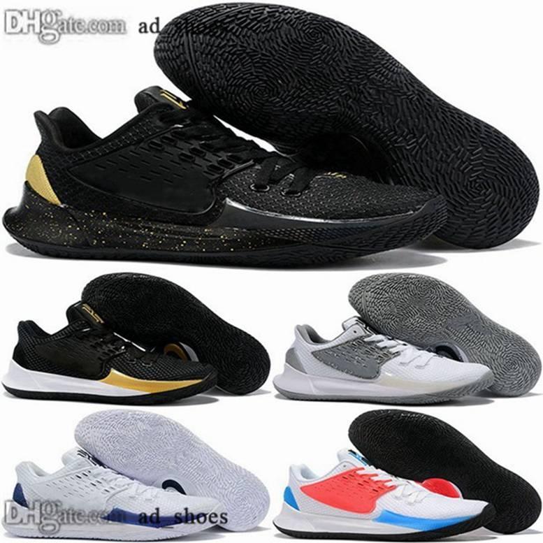 juventude Kyrie tamanho US 46 Sapatilhas 12 2s Tripler baixos mulheres negras zapatillas 47 chaussures 38 eur formadores Irving sapatos masculinos de basquete 2 13 II