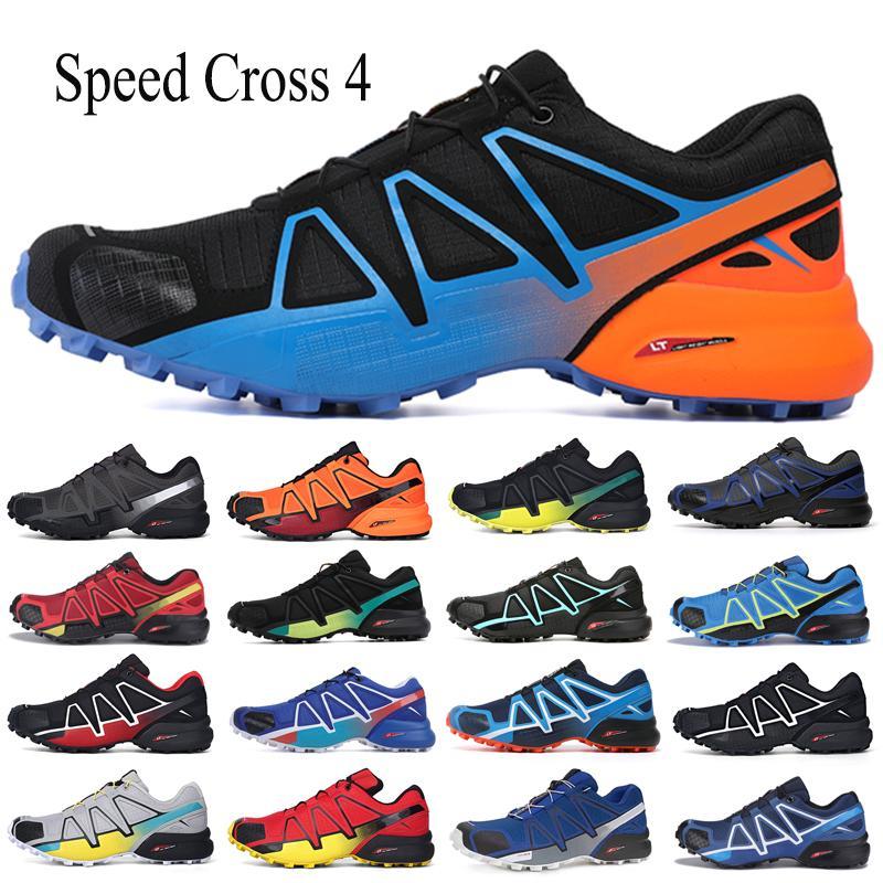 Novo Speedcross 4 CS Trail Running Sapatos Laranja Velocidade Vermelha Cruz Treinadores das Mulheres Trainers Ao Ar Livre Caminhada Esportes Sapatilhas Tamanho 36-46