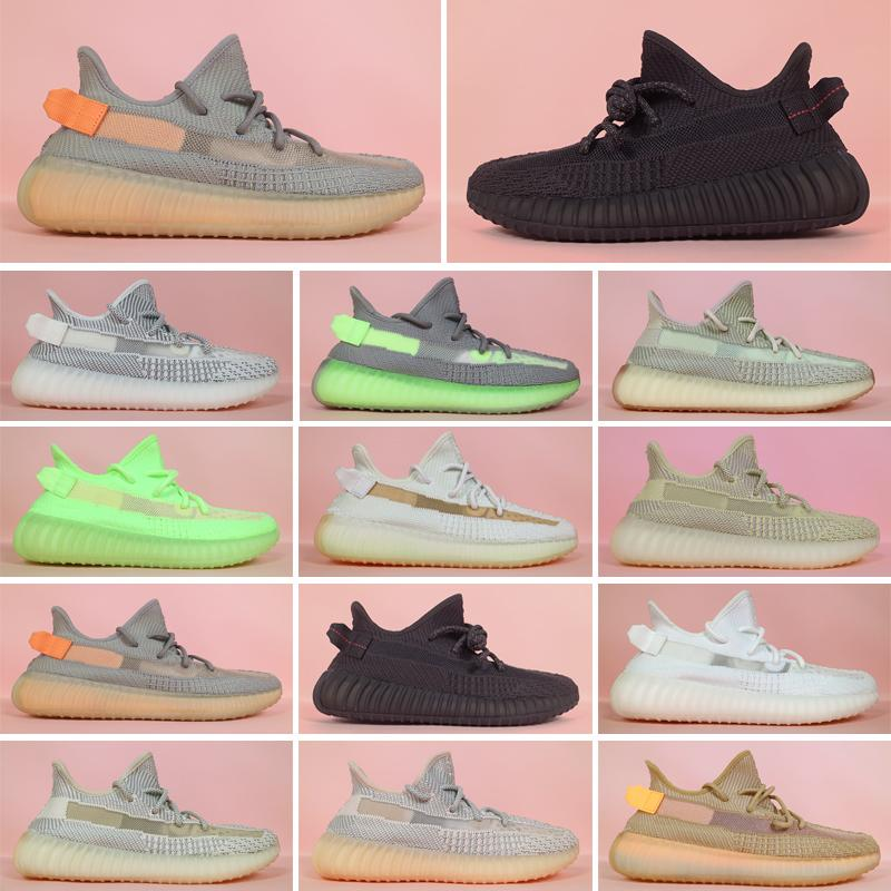 2021 Kanye West Hombres Mujeres Running Zapatillas Zebra Cinder Tail Light Reflective Abez Lino Mens Trainers Sneakers