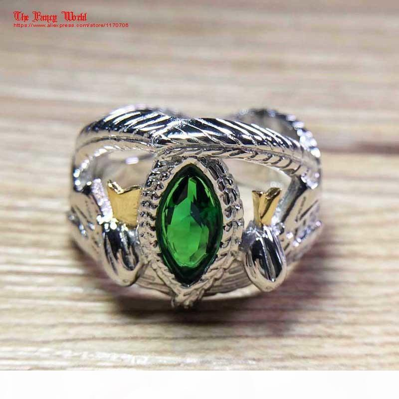The Lord of Rings 925 Sterling Silver Aragorn ring of Barahir LOTR wedding ring fashion men jewelry fan gift high quality Y1891908