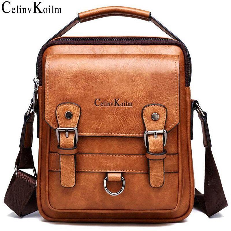 Celinv Koilm Brand Men сумочек Нового Человека Crossbody сумки на ремне большой емкости кожа Сумка для путешествий Человек Прохладный Новый C1008