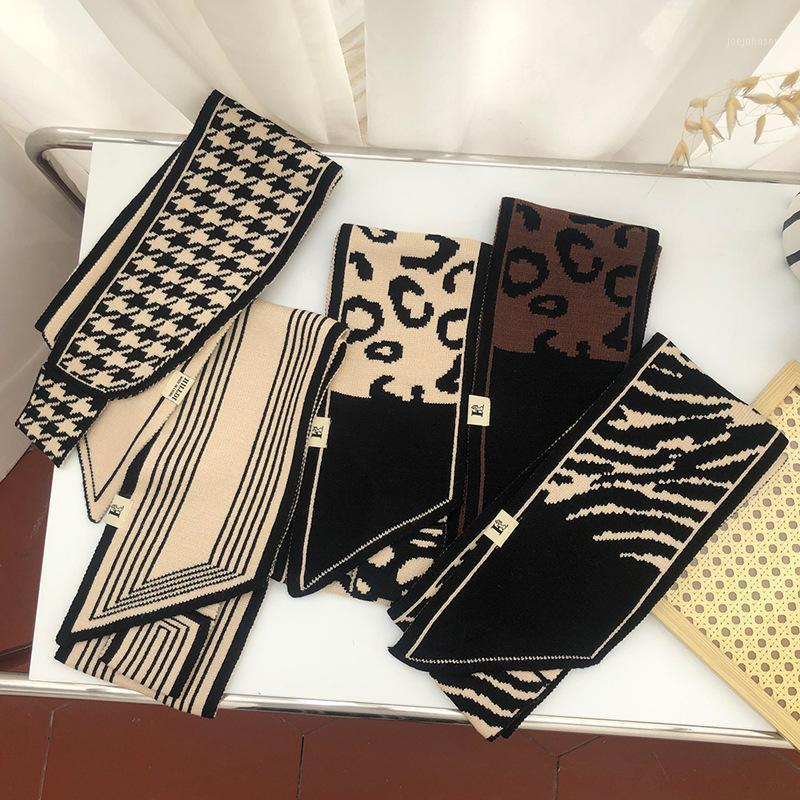 Luxury Winter Warm Neck Scarf For Women Printed Wool Kerchief Knitted Scarfs Female 125x15cm Designer Scarves For Ladies Spring1