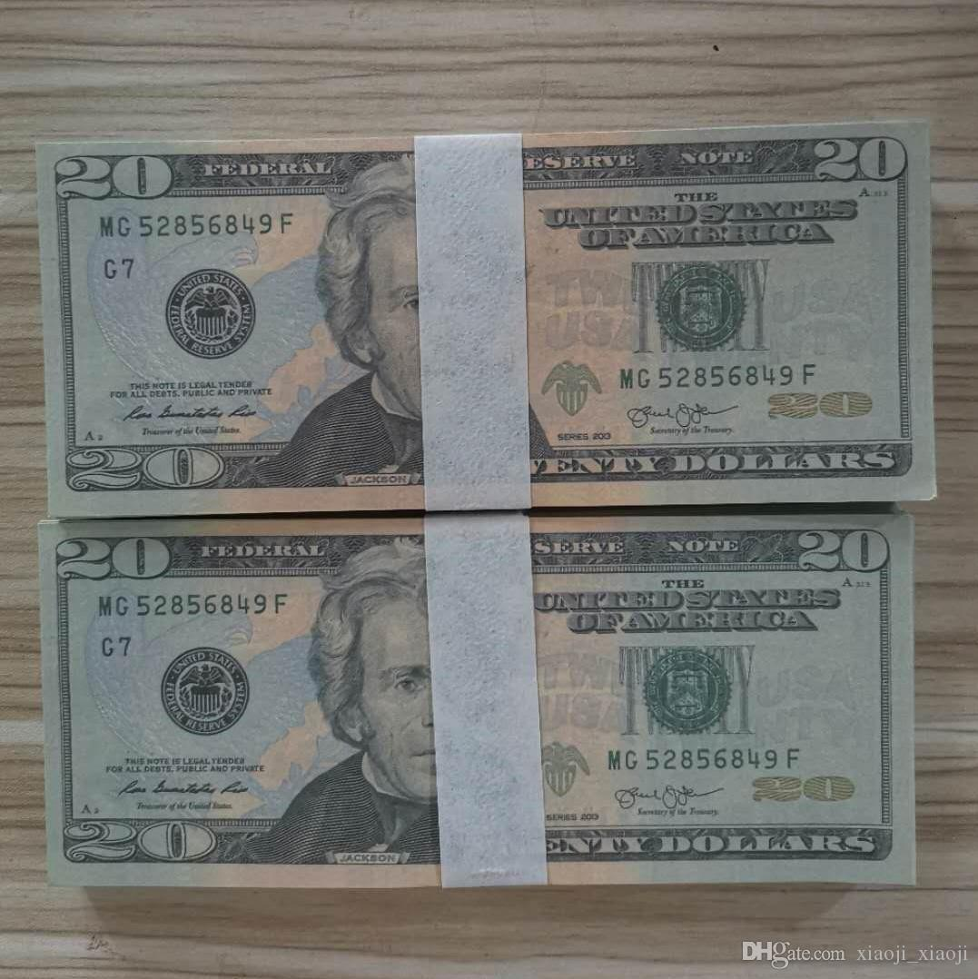 PLAY PROP MONEY GELD KUNDE PROUND Requisiten Erwachsene Kinderspielzeug 10 bar Requisiten Sonderfilm-Spiel-Dollar-Bühnenspiel MKHVQ