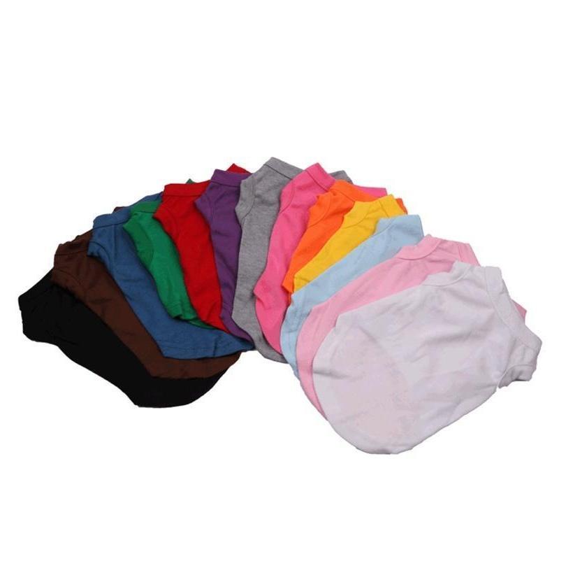 Pet Clothes Puppy Dog Cotton Shirts Solid Color Pet Dog T-shirt Pet Spring Summer T Shirts Dog Sleeveless Animal Ca jllgJZ sinabag