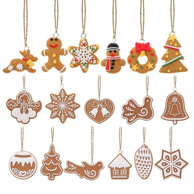 Colgante 17pcs / lot decoracion de Navidad Adornos ciervos muñeco de nieve Árbol de Chrismas Navidad Año Nuevo Suplies Party Decor