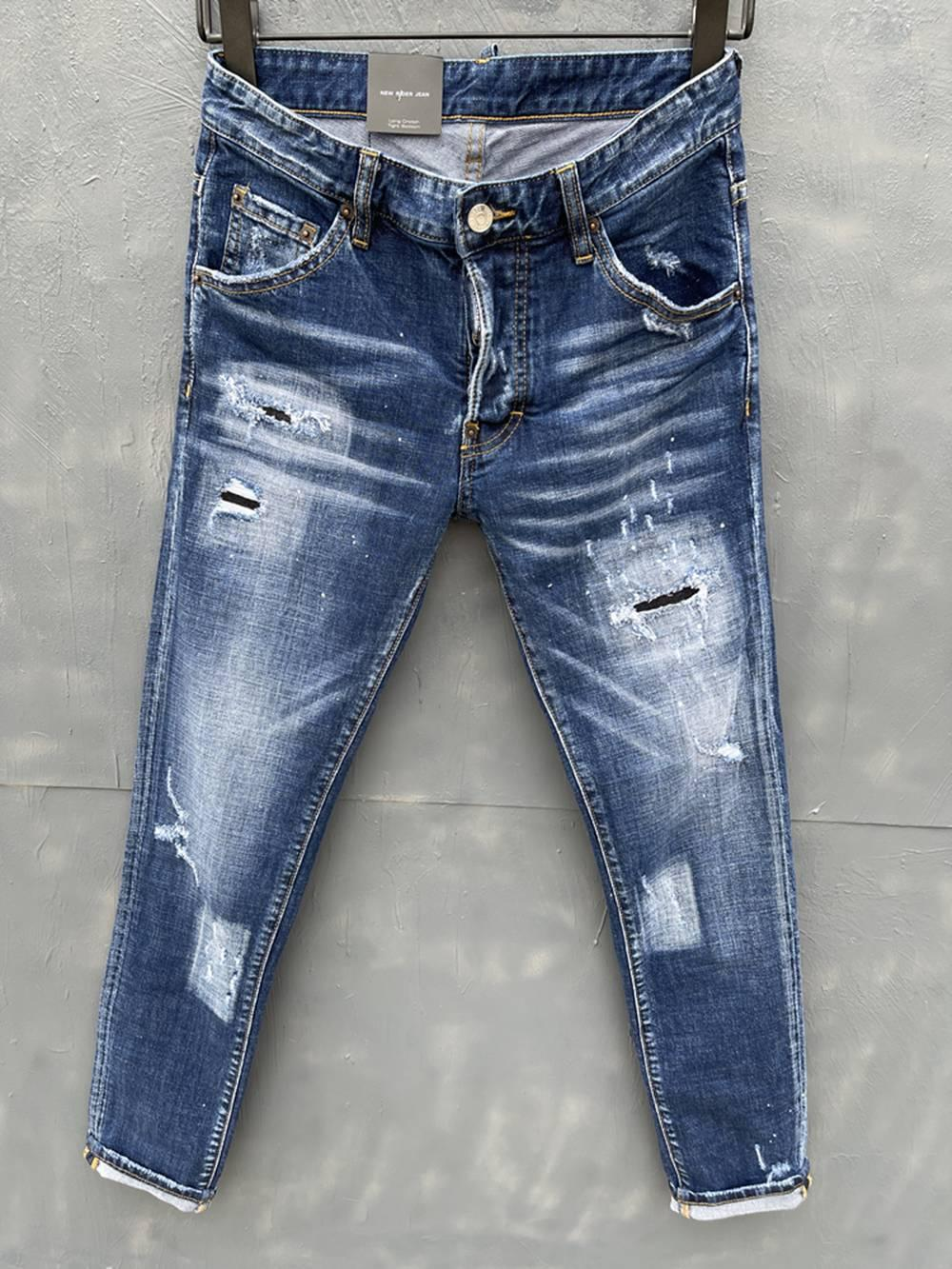 2021 Neue Marken-Europäische und amerikanische Mode Herren Casual Jeans, hochwertiges Waschen, reines Handschleifen, Qualitätsoptimierung LT033