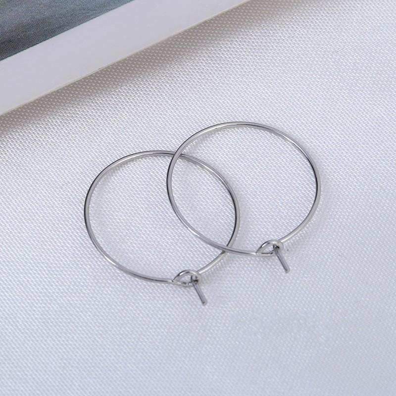 Free Shipping 600pcs Silver Plated Wine Glass Charm Rings /Earring Hoops 25x21mm Findings Wholesale jewelry making finding 13 J2
