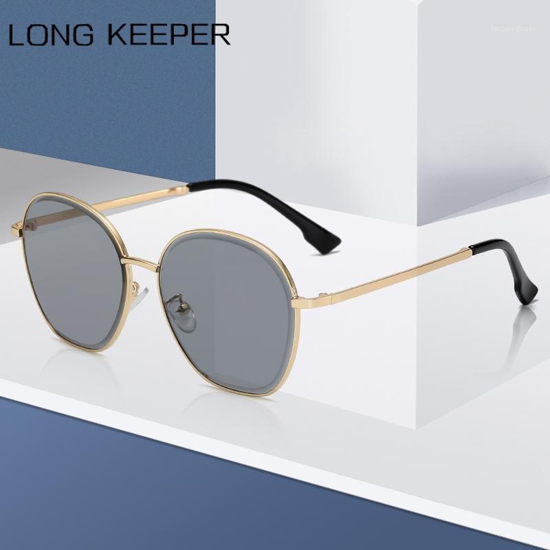 Солнцезащитные очки 2021 Классические круглые Женщины Мужчины Роскошные Старинные Сплавные Рамки Солнцезащитные Очки Мода Вождение Очки Люнюнь SOLEIL HOMME1