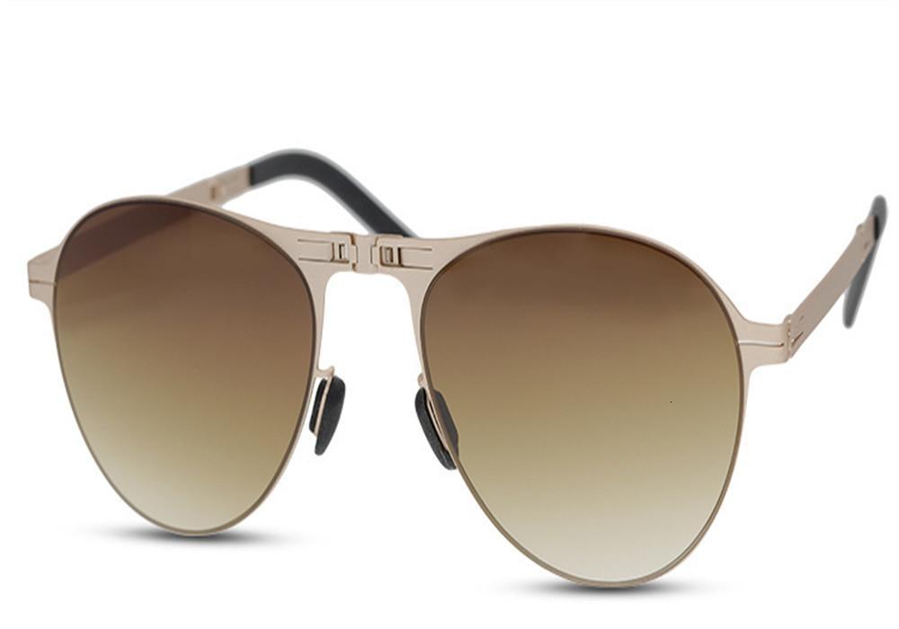 Поляризованные солнцезащитные очки унисекс Складная сплав Frame Ultralight Золото Серебро UV400 Brand Driver Солнцезащитные очки очки Женщины Мужчины óculos