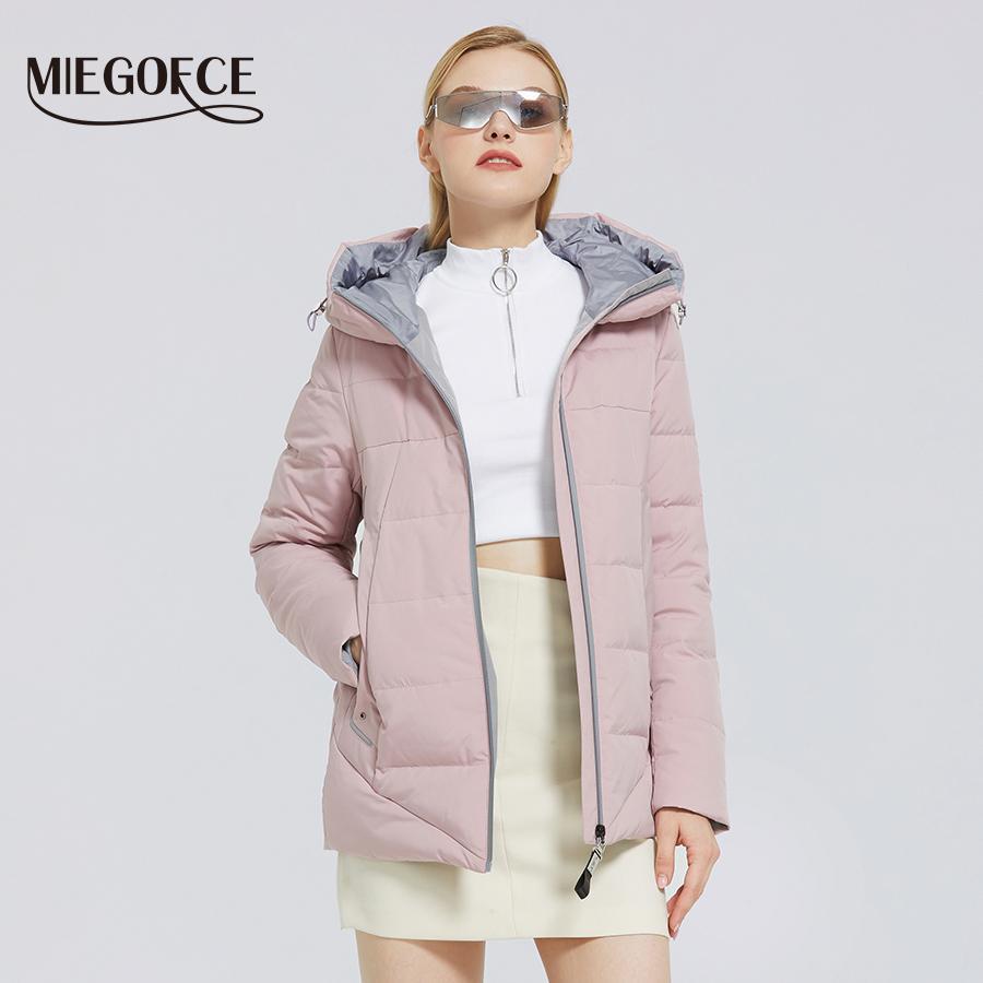 Ceket Basit Tasarım Kış Parka Kışlık Giysiler Kadınlar 201026 Windproof MIEGOFCE Kış Yeni Kadın Pamuk Ceket Sıcak Kapşonlu Coat