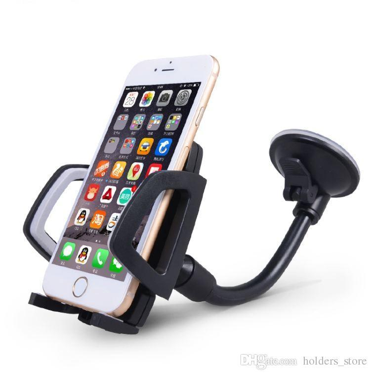New Coming Long Arm Windshield Mobile Cellphone Car Mount Bracket Holder For Your Mobile Phone Stand For Iphone Gps Mp4