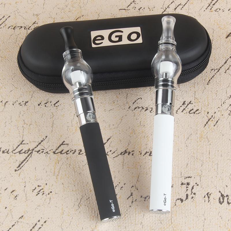O atomizador do bulbo do globo de vidro com o ego t starter do kit e do zíper do cigarro do cigarro da cera da cera da cera da cera Econogarette da pena do vaporizador da erva seca