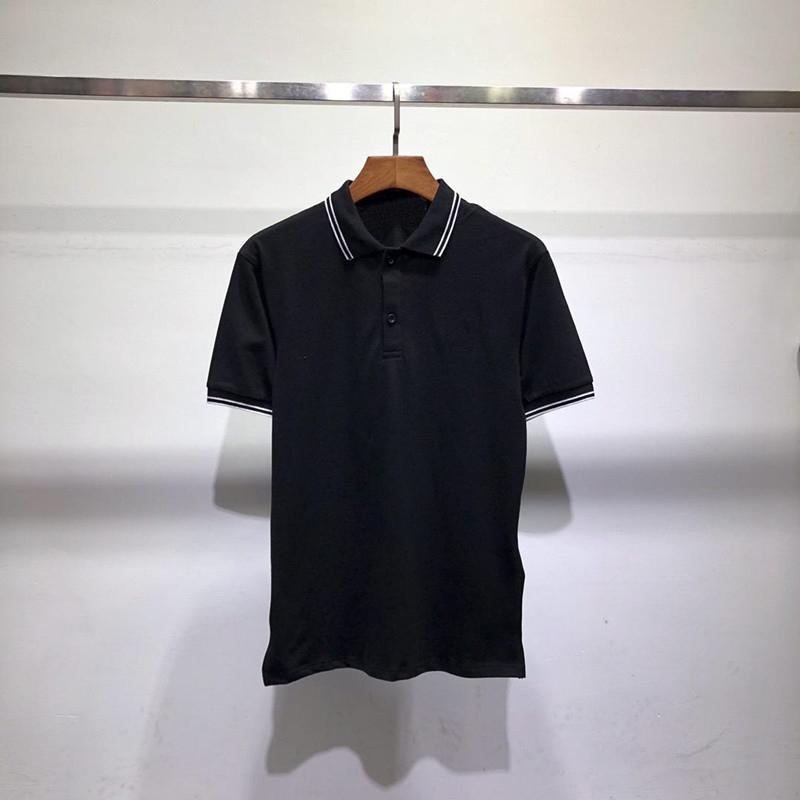 Случайные M-XXL размер дышащий стиль твердого поло Британского стиля рукава рубашки футболки Tee Shirs короткие случайные бизнесмены мужские поло 3 цветные тройники летние бог