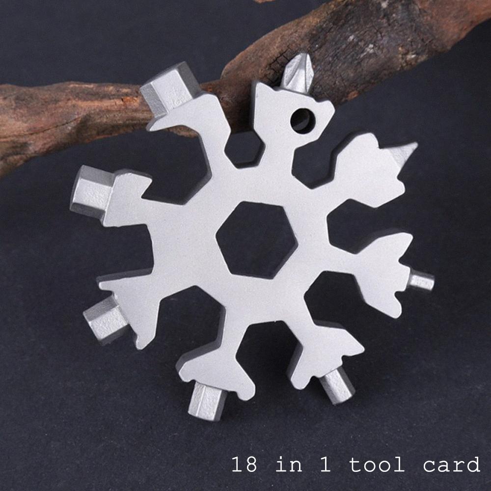 18-in-1 Çok fonksiyonlu kar tanesi El Aletleri Kart Parti Handy Tornavida Mini Craft Alet Seti Taşınabilir Anahtarlık Ev Açık pZWq #