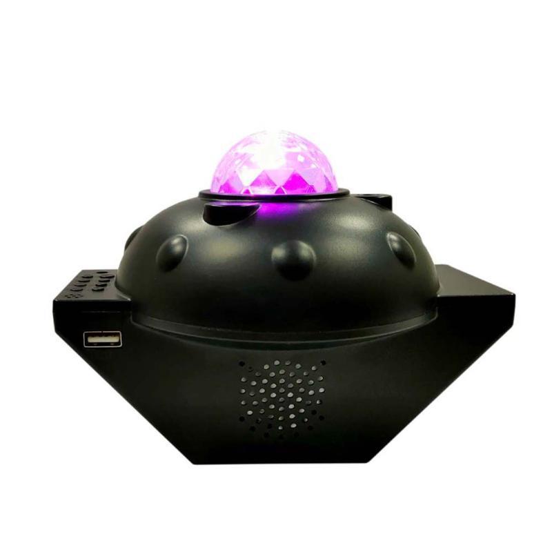 Dance Party Atmosphere Télécommande sans fil Starry Sky Light Music USB Charge lampe de projection Mark eau