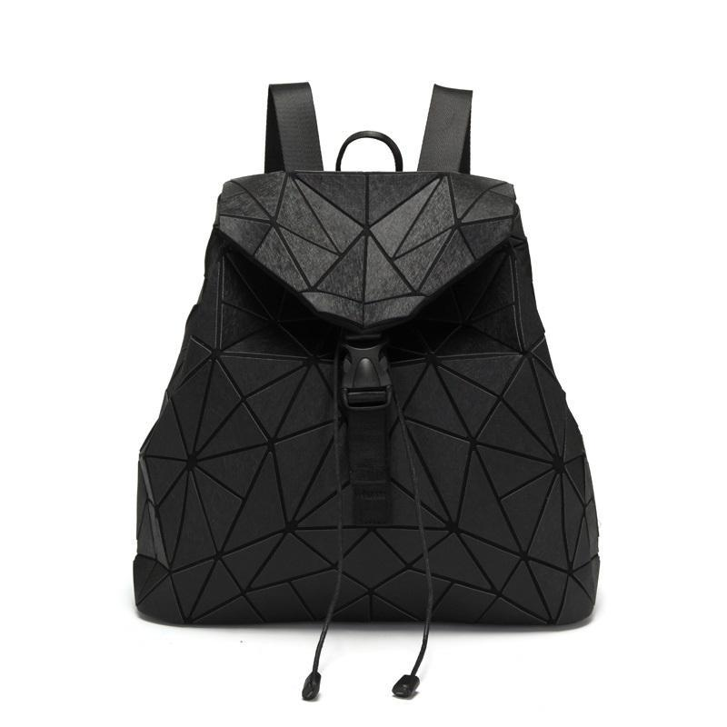 heißen Verkäufe arbeiten Großhandel maßgeschneiderten geometrischen Rucksack leuchtenden Reiserucksack für Frauen